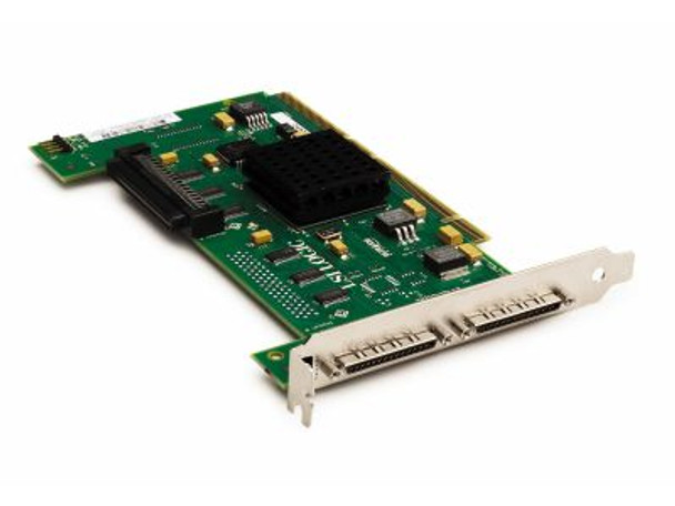HPE 593120-001 Dual Port PCI Express X4 Ultra-320 SCSI 68-Pin Plug In Card Host Bus Adapter for ProLiant Generation1 to Generation7 Servers (90 Days Warranty)