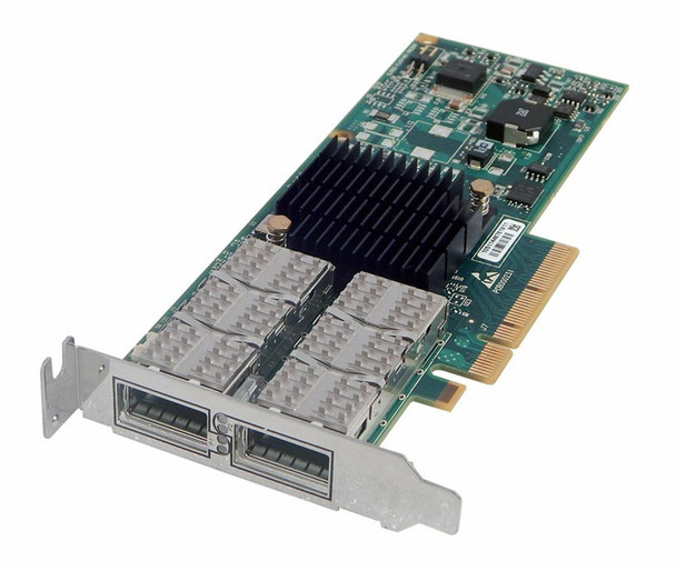 HPE 593412-001 Infiband 40GBps Dual Port QDR ConnectX PCI Express-2.0 x8 Plug-In Card Wired Network Adapter for ProLiant Servers (New Bulk Pack with 1 Year Warranty)