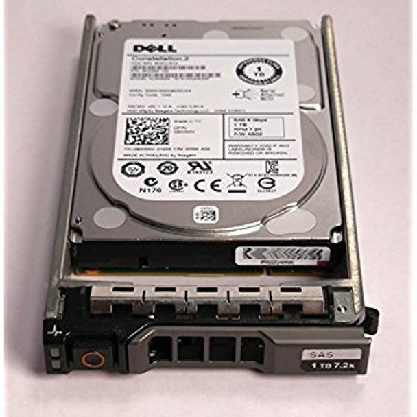 Dell 0WDC07 2TB 7200RPM 3.5inch LFF SAS-6Gbps Hot Swap Internal Hard Drive for PowerEdge and PowerVault Servers (New Bulk Pack with 1 Year Warranty)