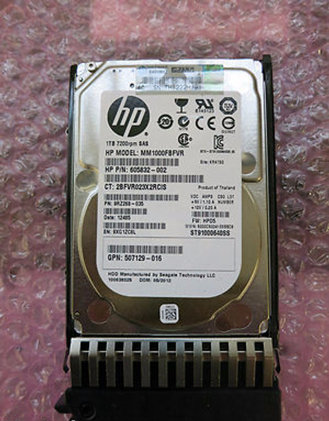 HPE 605832-002 1TB 7200RPM 2.5inch SFF Dual Port SAS-6Gbps Midline Hard Drive for ProLiant Gen4 to Gen7 Servers (New Bulk Pack with 1 Year Warranty)