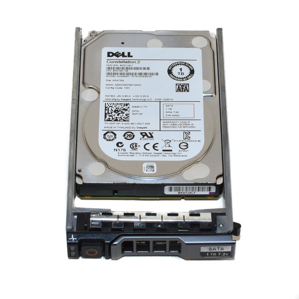 Dell WF12F 1TB 7200RPM 2.5inch Small Form Factor(SFF) SATA-6Gbps 64 MB Buffer Hot-Swap Hard Drive for Poweredge and Powervault Server