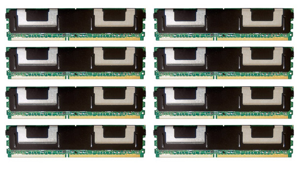 HPE 495604-B21 64GB (8x8GB) Dual Rank x4 667MHz ECC Registered CL5 (CAS-5-5-5) PC2-5300 Fully Buffered 240Pin DIMM DDR2 SDRAM Memory Kit for ProLiant Gen1 and Gen5 Servers (New Bulk Pack with 1 Year Warranty)