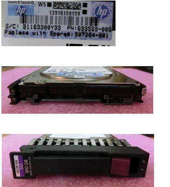 HPE 507119-002 300GB 10000RPM 2.5inch SFF Dual Port SAS-6Gbps Hot-Swap Enterprise Hard Drive for ProLiant Gen4 to Gen7 Servers (90 Days Warranty)