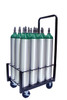 12 Pc Oxygen Cylinder Cart with 4 inch Wheels