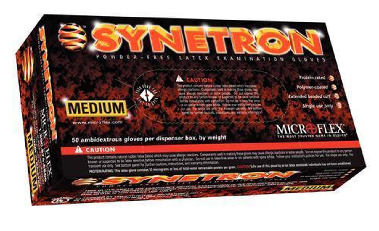 Microflex Synetron LATEX Gloves - 50 per Box