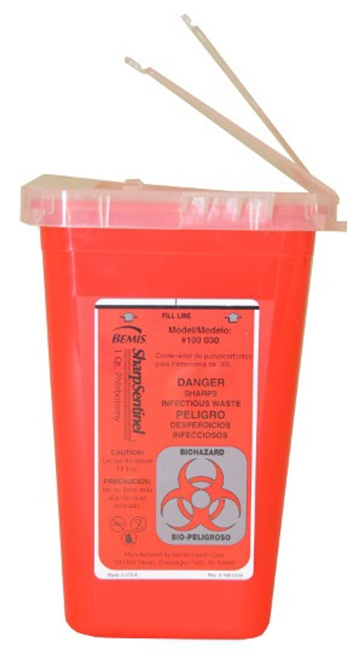 1 Quart Sharps Container #100 by Bemis