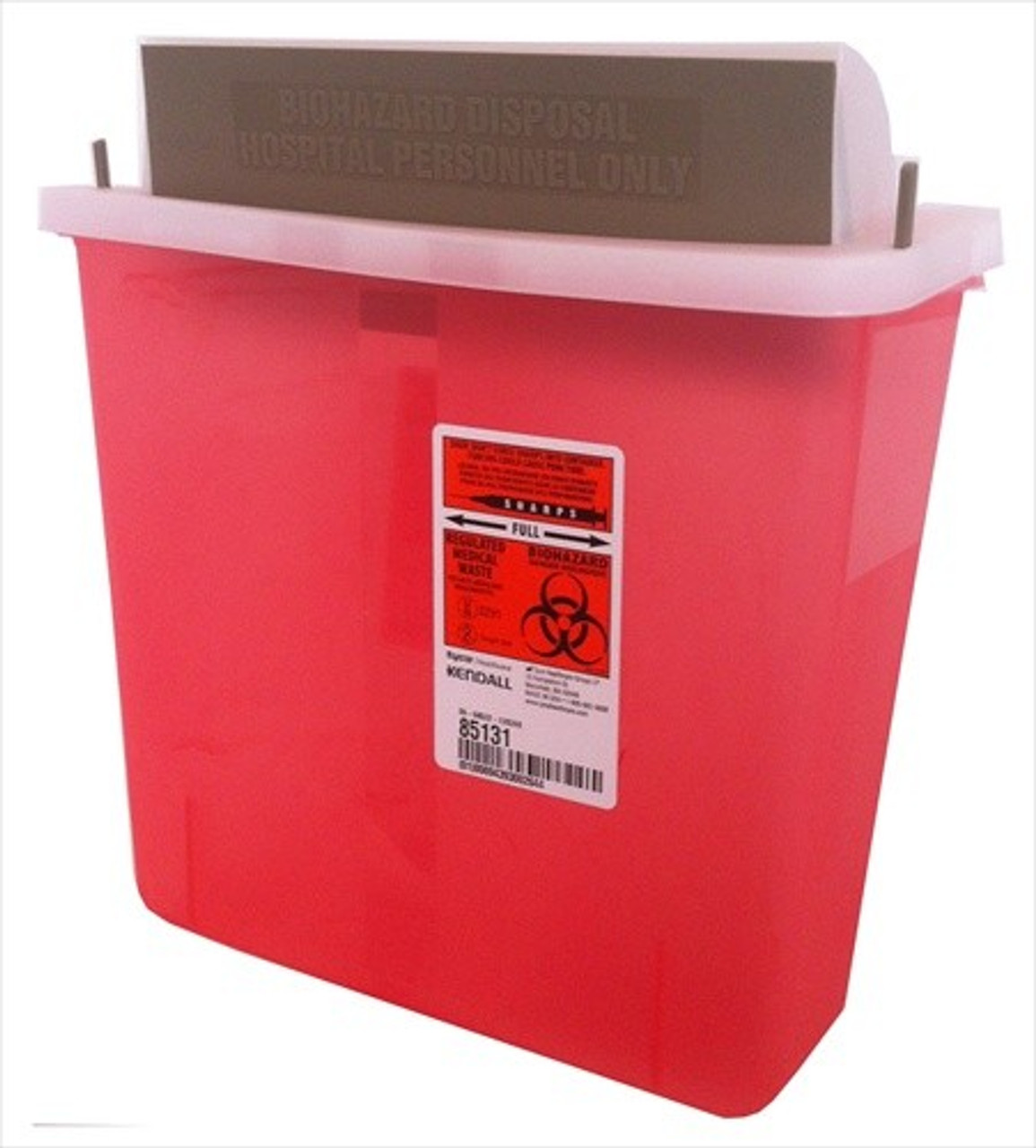 5 Quart Sharps Container #8513  by Kendall