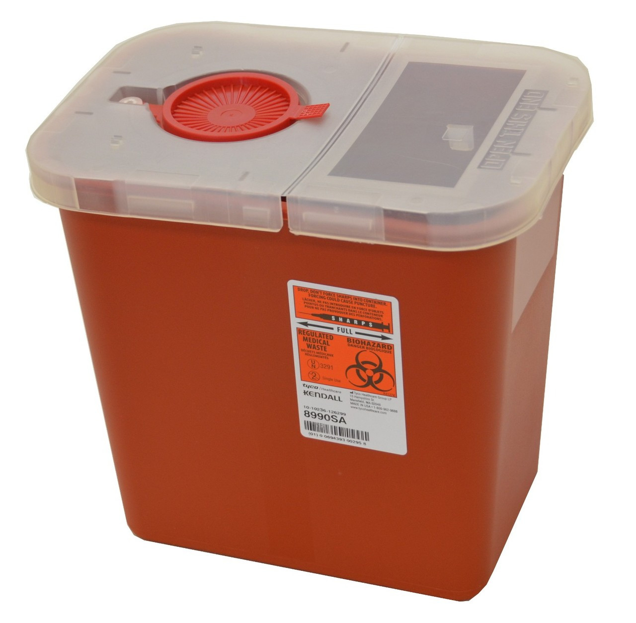 2 Gal. Sharps Container #8990  by Kendall
