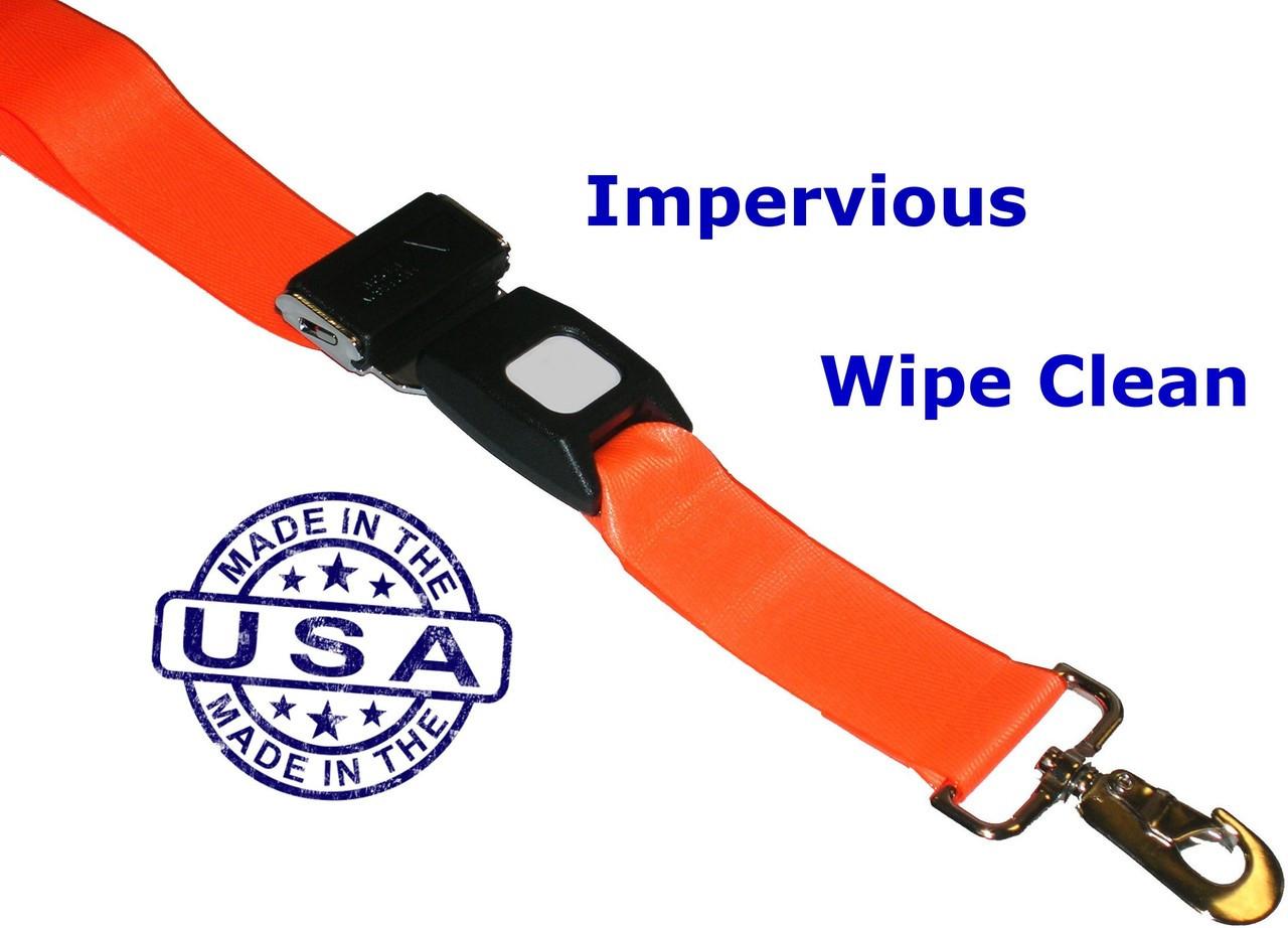Wipe-Clean VINYL Backboard Strap with Swivel Speed Clips
