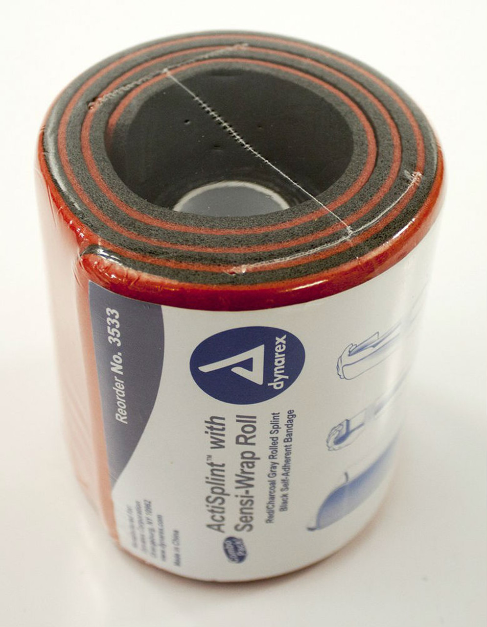 EMS Splint with Self-Adherent Wrap