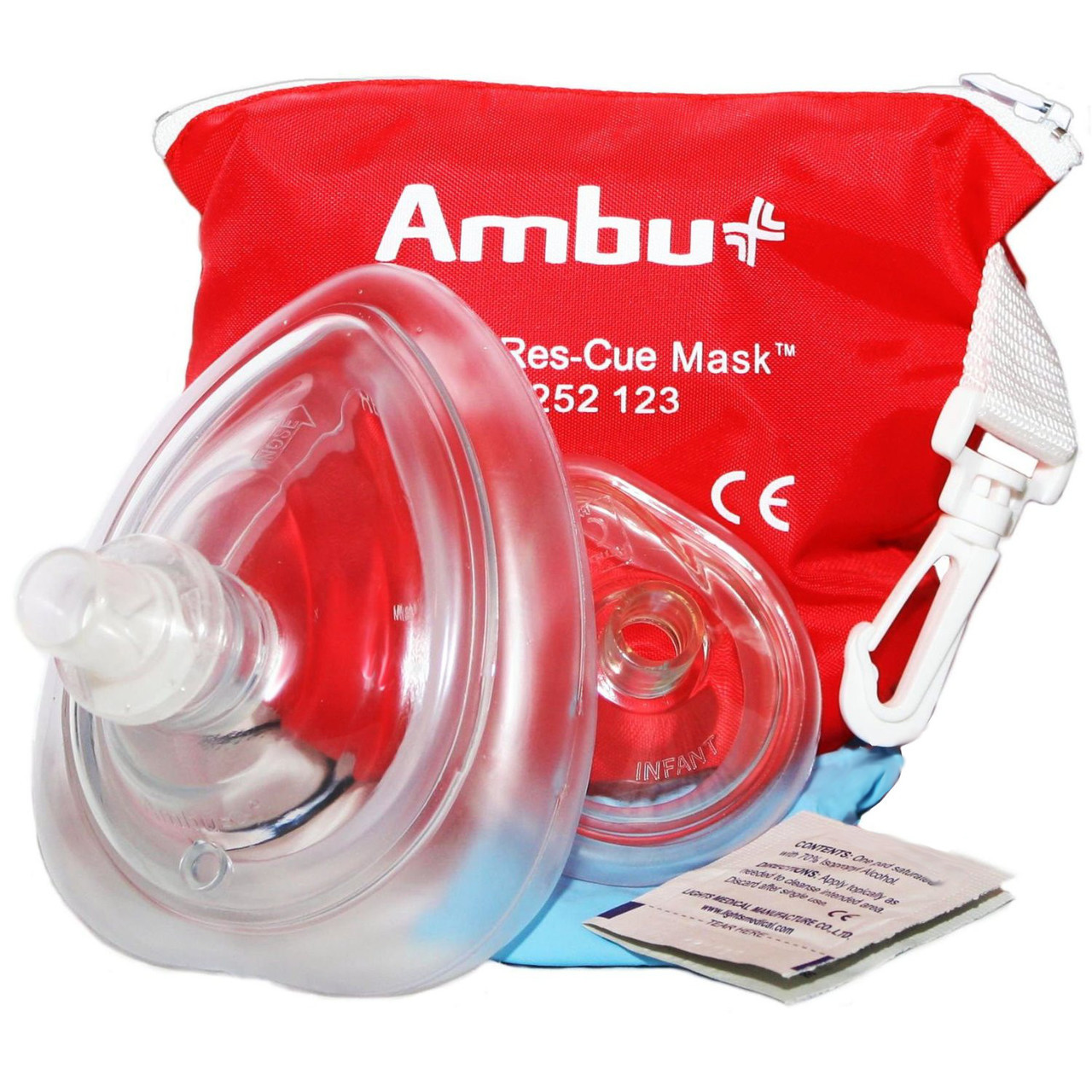 Adult and Infant CPR Mask in Soft Nylon Case