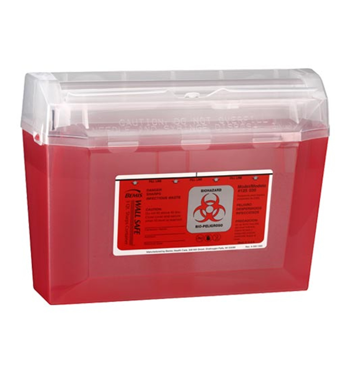 3 Quart Sharps Container #125-030  by Bemis