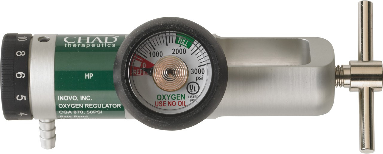 Brass-Core Oxygen Regulator 0-15 Lpm Settings