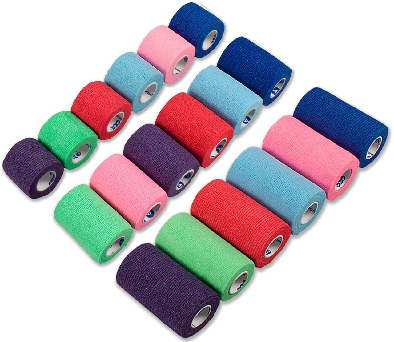 Sensi-Wrap Self-Adhering Elastic Bandage - Rainbow Packs