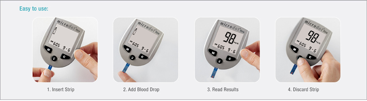 MicroDot Xtra Glucometer