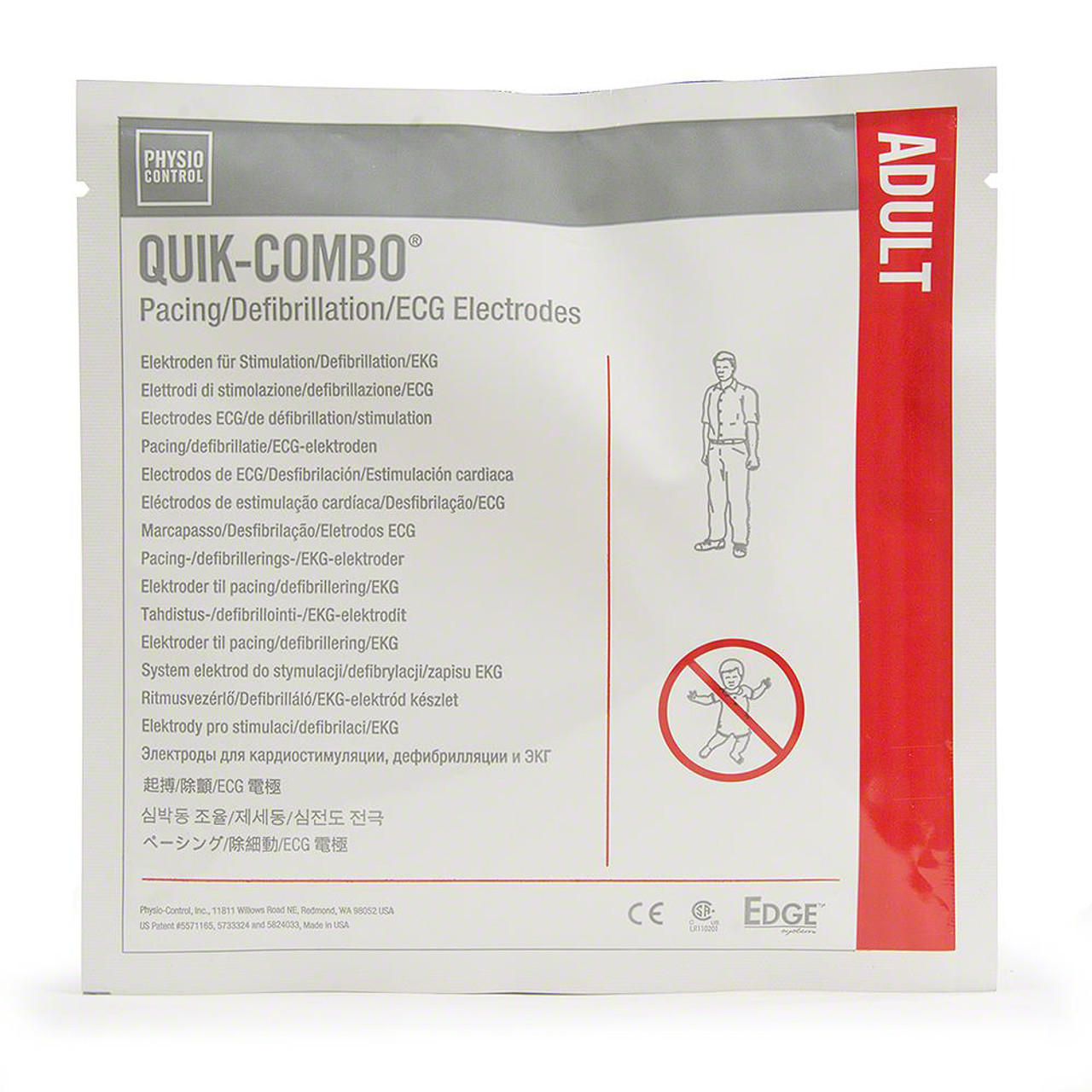 Adult Quik Combo Defibrillation Pads by Physio Control