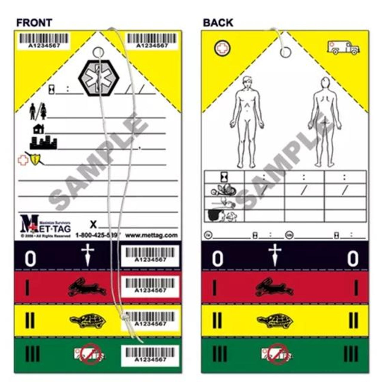 METTAG Triage Tag - 50/Pack
