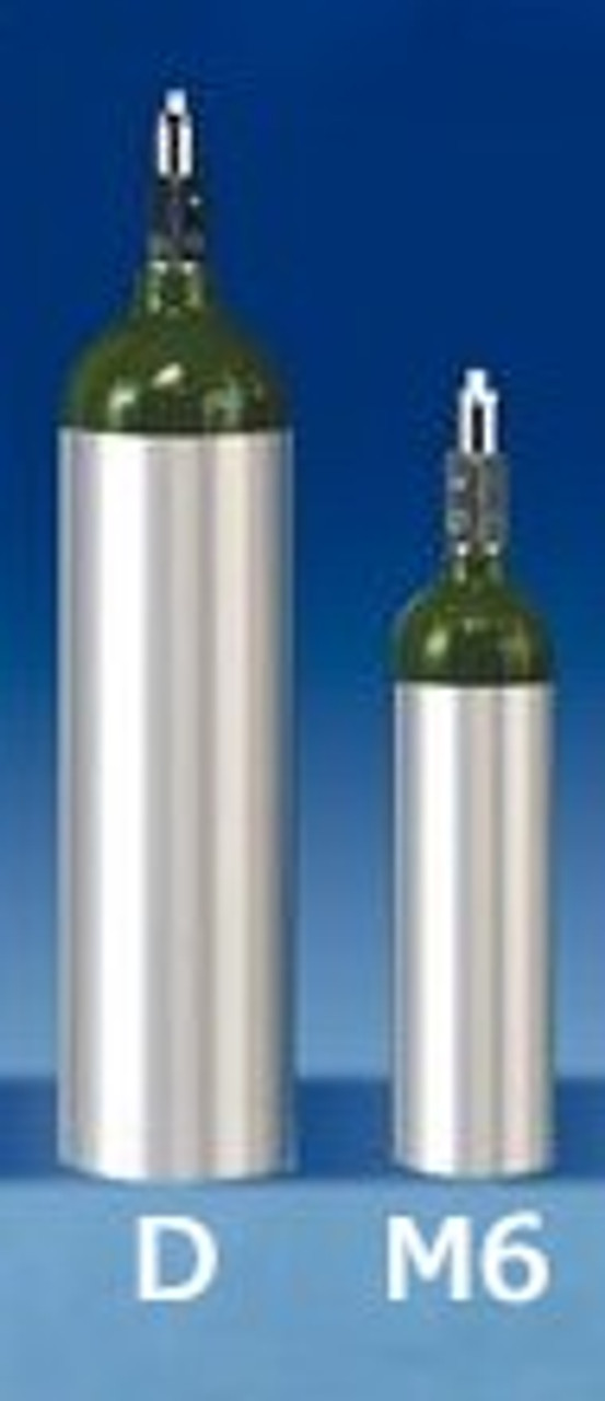 "Portable Oxygen Tank ""M6"" with Toggle Valve - 165 Liter Capacity"
