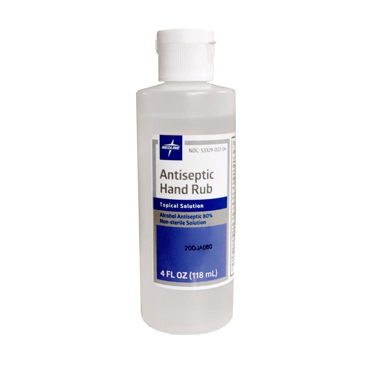 Alcohol Antiseptic Hand Rub - 4oz Squeeze Bottle