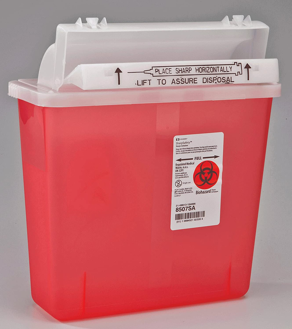 5 Quart Sharps Container #8507SA  by Kendall / Covidien