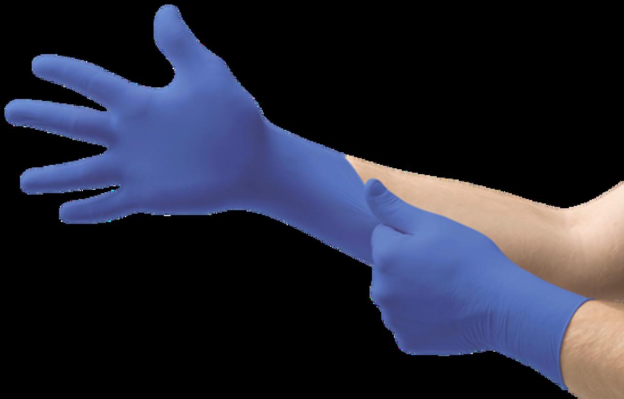 Microflex Micro-Touch® Royal Blue Nitrile Gloves - 100 per Box