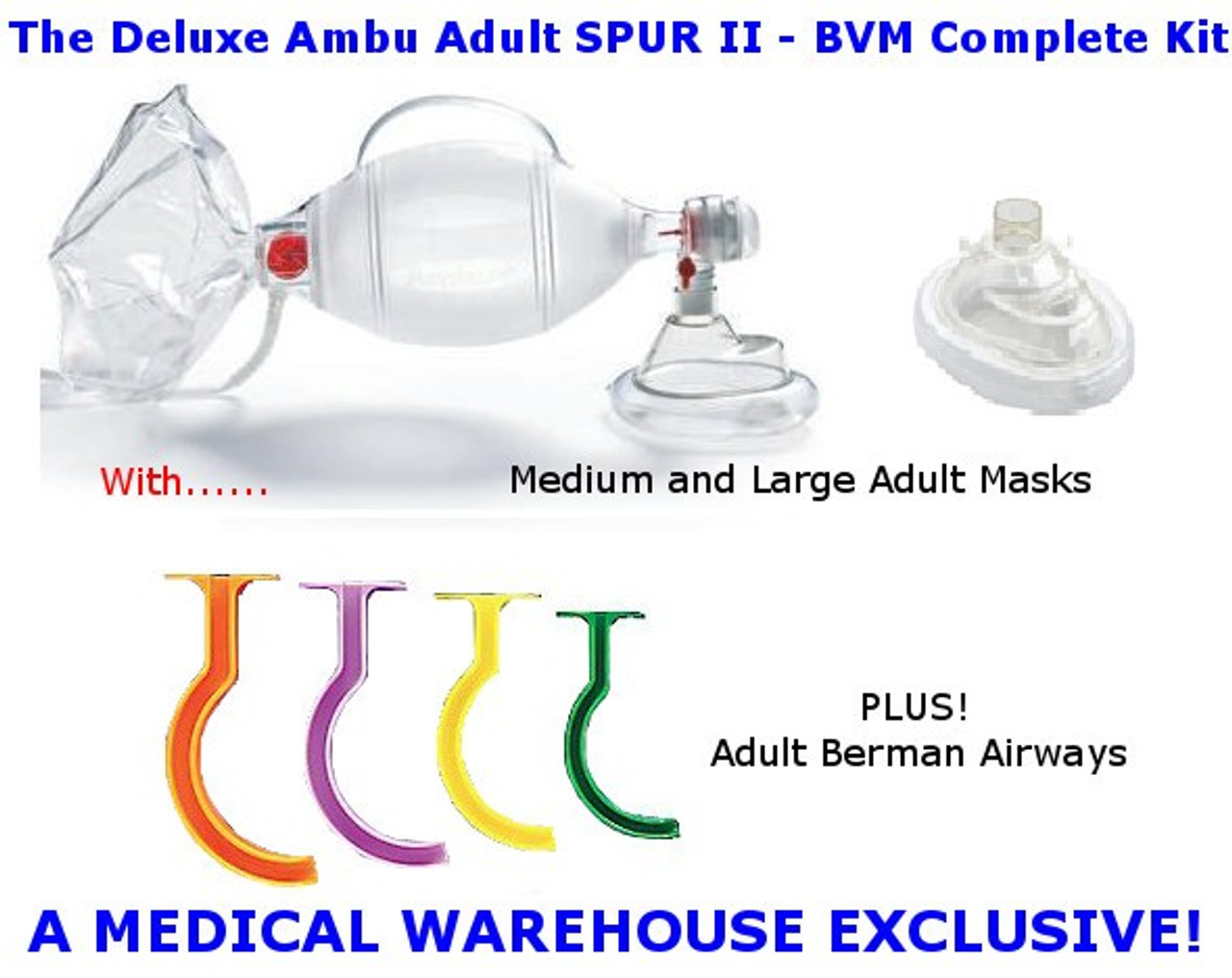 Spur II Adult Bag-Valve-Mask