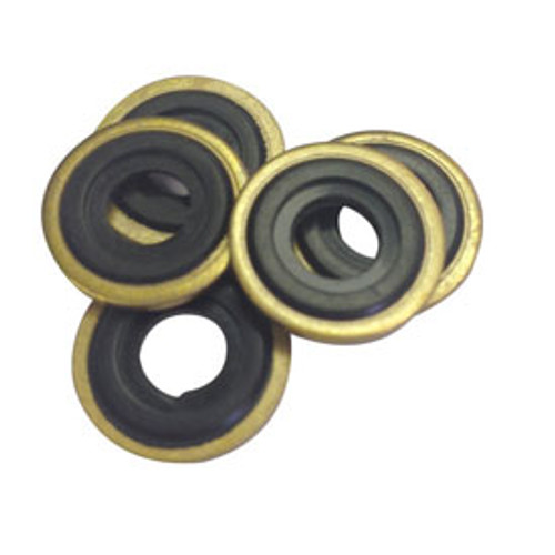 Oxygen Washer Brass with Viton insert - Each