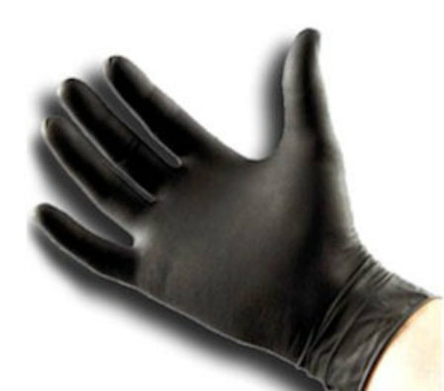 Microflex Midknight Black Nitrile Gloves - 100 per Bx