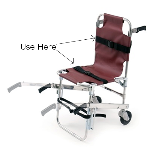 7 Foot  - 1 Piece Nylon Stair Chair Strap with Metal Buckle