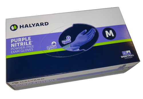 Halyard Health Purple Nitrile Gloves - 100/Box