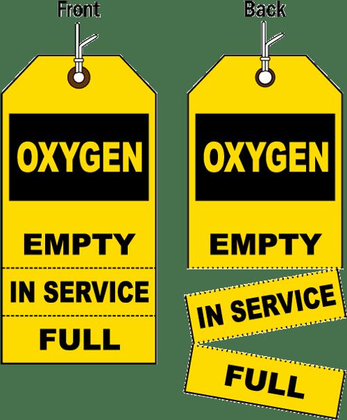 OXYGEN FILL TAGS - 100 per Pack