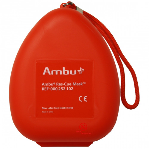 Pocket CPR Mask with One-Way Valve and O2 Inlet by Ambu®