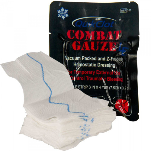 QuikClot ® Z-Fold Combat Gauze Hemostatic Dressing 1/Pack