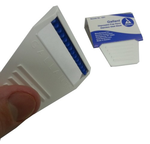 Disposable Prep Razor for Rapid Hair Removal