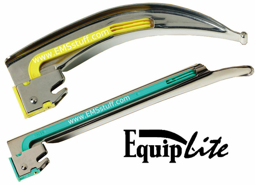 EQUIPLITE® Metal Disposable Laryngoscope Blades with LED Bulb