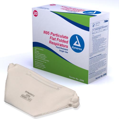 Fold Flat N95 Particulate Respirator Masks
