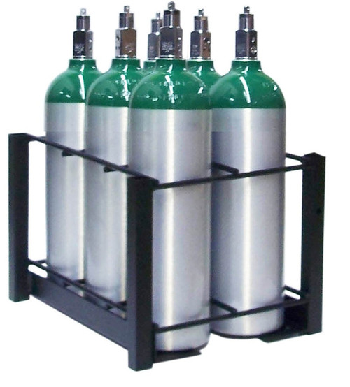 6 Pc Oxygen Cylinder Rack