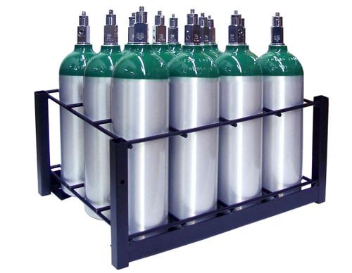 12 Pc Oxygen Cylinder Rack