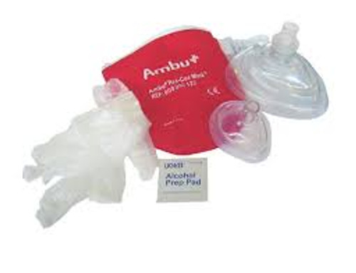 Adult and Infant CPR Mask in Soft Nylon Case by Ambu®