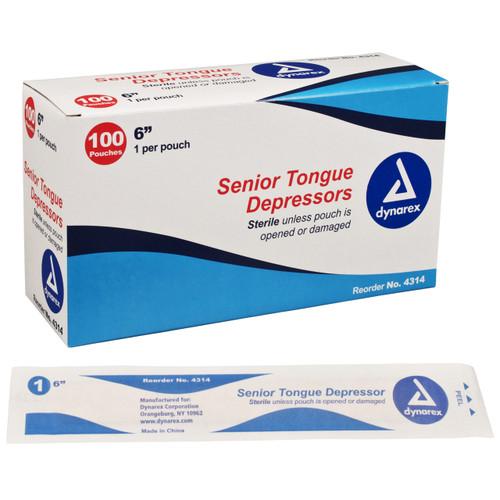 Tongue Depressor, Sterile - 100 per Box