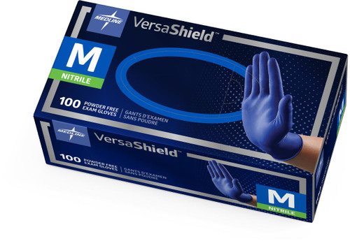 VersaShield Blue Nitrile Gloves by Medline - 100/Bx