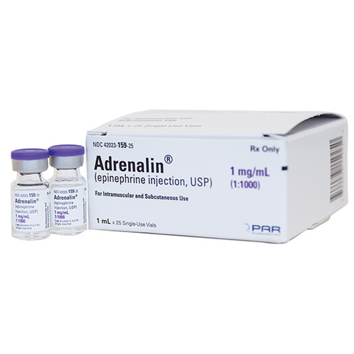 Epinephrine 1mg/ml Vial 1:1,000 for Anaphylaxis - Each