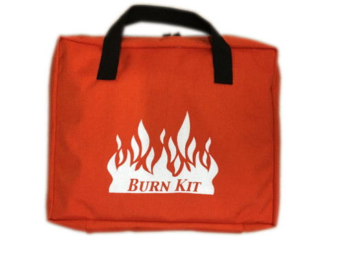 Burn Kit Bag with Zipper Closure - Orange