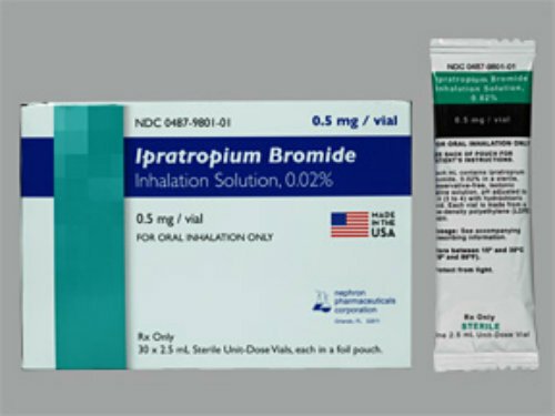 Ipratropium Bromide Inhalation Solution 0.02% (Generic for Atrovent)- Individually Foil Packed