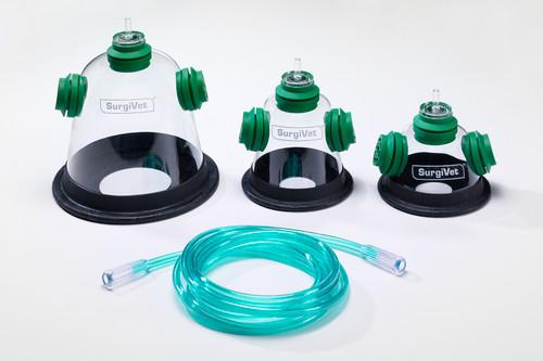 Pet Oxygen Mask Kit - Set of 3 Sizes with Tubing