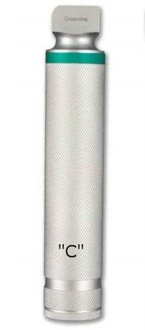 Green-Line Stainless Steel Fiberoptic Laryngoscope 'C' Handle by Sunmed