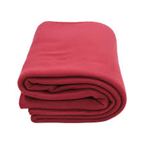 """Maroon Polyester EMS Cot Blanket 72"""" x 90"""""""