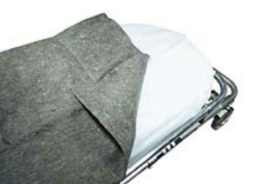 "Disposable Gray Blanket - 100% Polyester - 60""x80"""