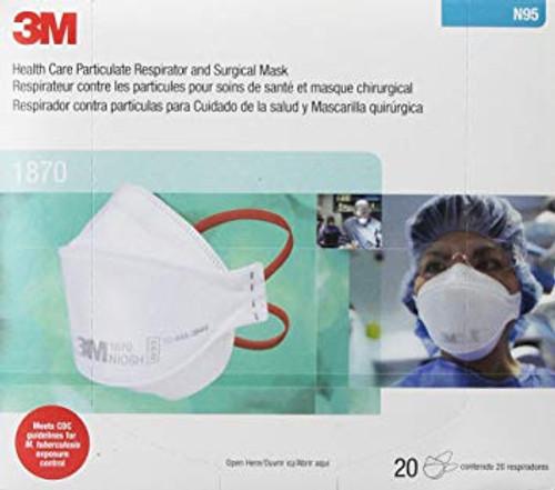 3M Aura #1870+  N95 Respirator - 20 per Box