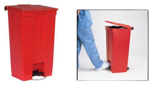 Step-On Waste Container 23 Gallon - Red